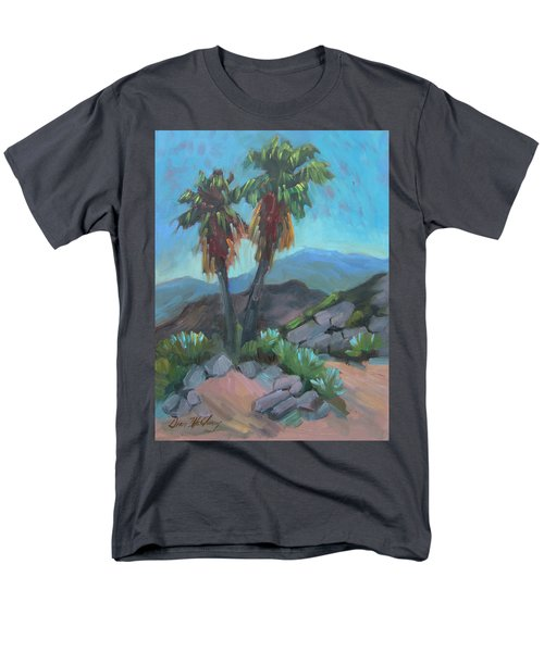 Men's T-Shirt  (Regular Fit) featuring the painting Murray Trail Andreas Canyon by Diane McClary