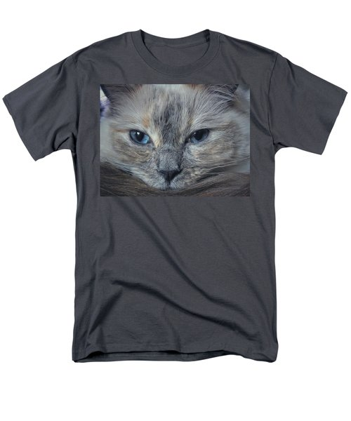 Mustachioed Cat Men's T-Shirt  (Regular Fit) by Karen Stahlros