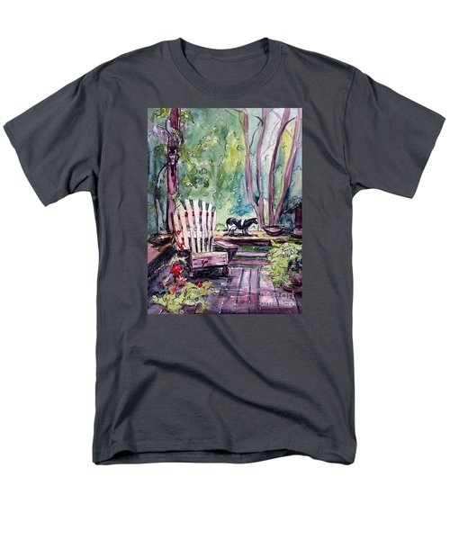 Men's T-Shirt  (Regular Fit) featuring the painting My Front Porch by Gretchen Allen