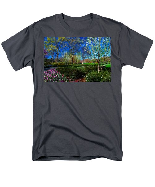My Garden In Spring Men's T-Shirt  (Regular Fit) by Diana Mary Sharpton