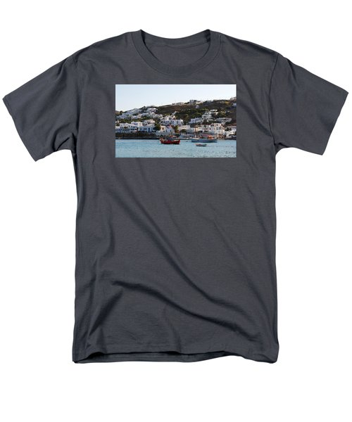 Mykonos Fishing Boats Men's T-Shirt  (Regular Fit) by Robert Moss