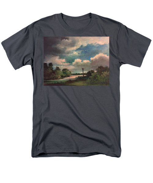 Men's T-Shirt  (Regular Fit) featuring the painting Mystery Of God  The Eye Of God by Randol Burns