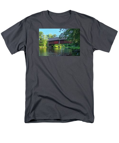 Men's T-Shirt  (Regular Fit) featuring the digital art N. Troy Bridge by John Selmer Sr