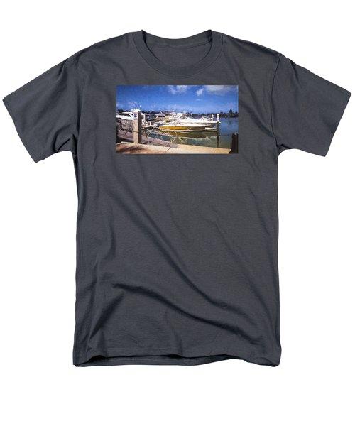 Naples Dock Men's T-Shirt  (Regular Fit) by Rena Trepanier