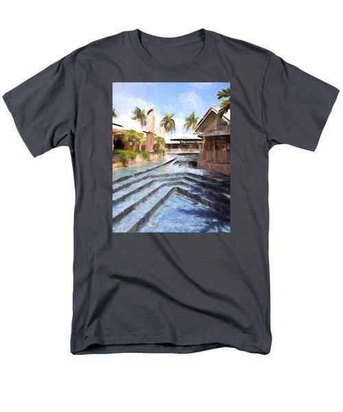 Naples Falls Shopping  Men's T-Shirt  (Regular Fit) by Rena Trepanier