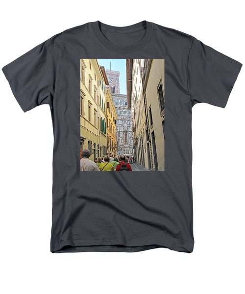 Narrow Street To Catherdal Square Men's T-Shirt  (Regular Fit) by Allan Levin