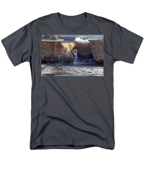 Natural Bridge At Point Arena Men's T-Shirt  (Regular Fit) by Mick Anderson