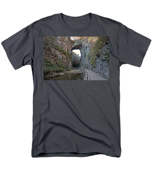 Men's T-Shirt  (Regular Fit) featuring the photograph Natural Bridge Virginia by Suzanne Stout