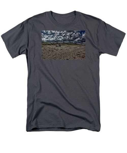Men's T-Shirt  (Regular Fit) featuring the photograph Nature Playing To An Empty Beach by Constantine Gregory