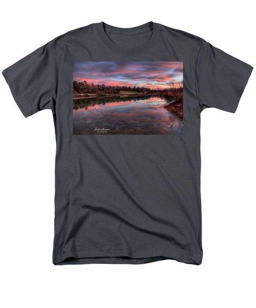 Nature Reserve Reflections Men's T-Shirt  (Regular Fit) by John Loreaux