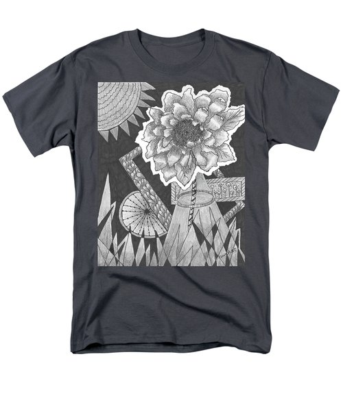 Naturemade And Manmade Shapes Men's T-Shirt  (Regular Fit) by Quwatha Valentine