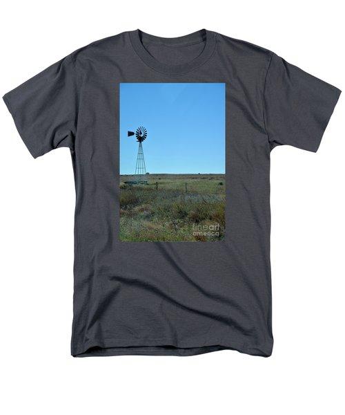 Men's T-Shirt  (Regular Fit) featuring the photograph Nebraska Windmill by Mark McReynolds