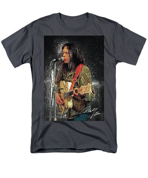 Neil Young Men's T-Shirt  (Regular Fit) by Taylan Apukovska