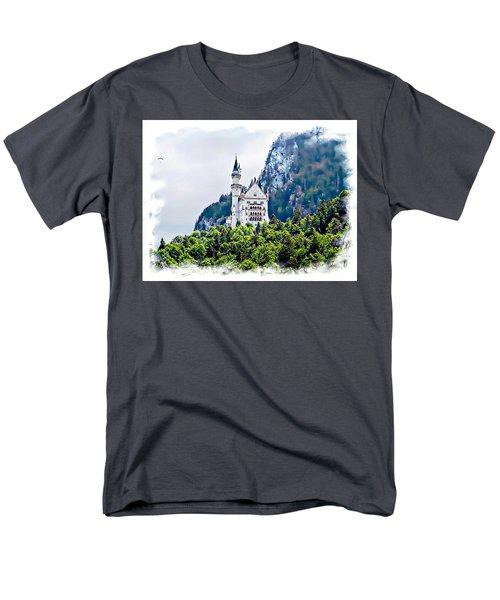 Neuschwanstein Castle With A Glider Men's T-Shirt  (Regular Fit) by Joseph Hendrix