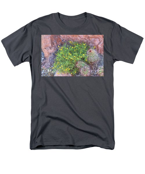 Men's T-Shirt  (Regular Fit) featuring the photograph Nevada Yellow Wildflower by Linda Phelps