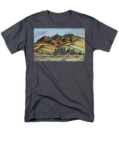 Men's T-Shirt  (Regular Fit) featuring the painting New Mexico Back Country by Terry Banderas
