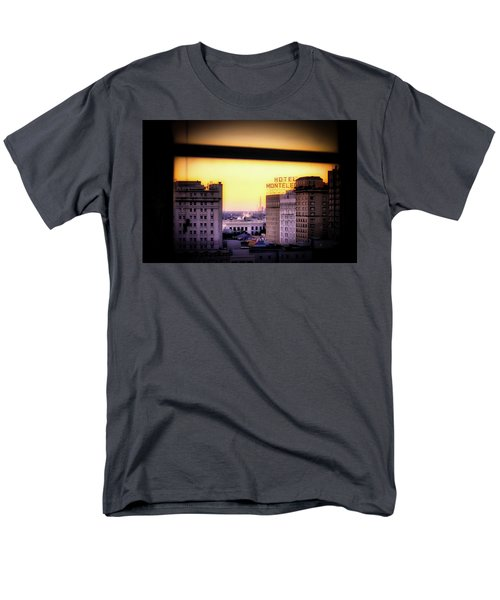 Men's T-Shirt  (Regular Fit) featuring the photograph New Orleans Window Sunrise by Jim Albritton