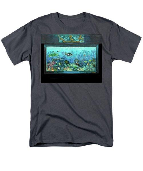 New York Aquarium Men's T-Shirt  (Regular Fit) by Bonnie Siracusa