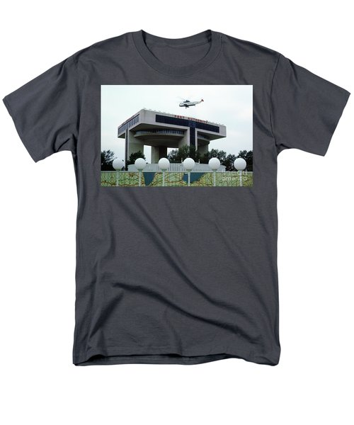New York City Port Authority Helicopter Pad, New York World's Fa Men's T-Shirt  (Regular Fit) by Photovault