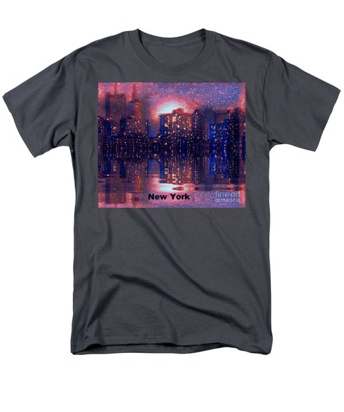 Men's T-Shirt  (Regular Fit) featuring the photograph New York by Holly Martinson