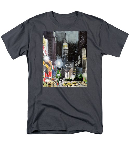 Men's T-Shirt  (Regular Fit) featuring the painting New York Night by Tom Riggs