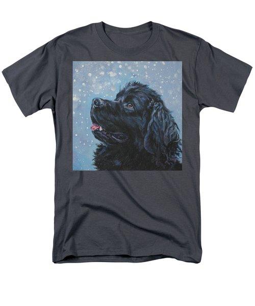 Newfoundland In Snow Men's T-Shirt  (Regular Fit) by Lee Ann Shepard