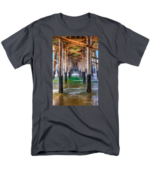 Men's T-Shirt  (Regular Fit) featuring the photograph Newport Beach Pier - Summertime by Jim Carrell