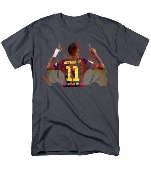 Neymar Men's T-Shirt  (Regular Fit) by Vincenzo Basile