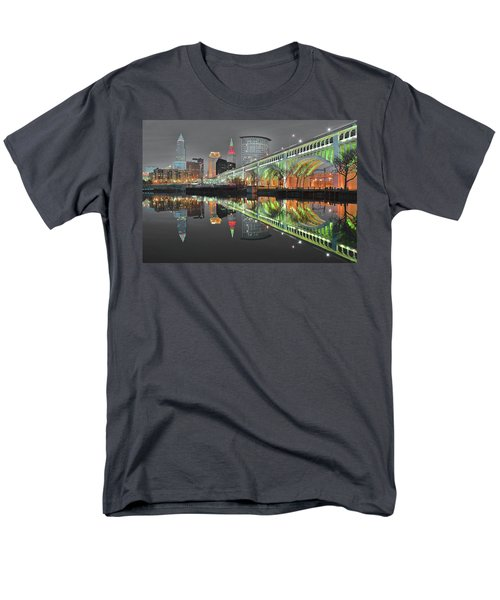 Men's T-Shirt  (Regular Fit) featuring the photograph Night Time Glow by Frozen in Time Fine Art Photography