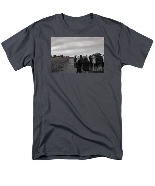 Men's T-Shirt  (Regular Fit) featuring the photograph Night Vision Ghost Story In Bradgate Park. by Linsey Williams