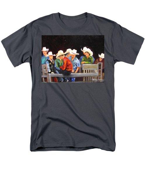 Nine Cowboys On A Fence Men's T-Shirt  (Regular Fit)
