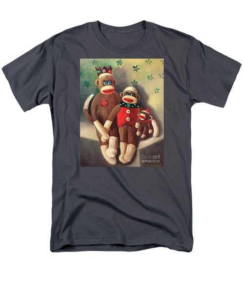 No Monkey Business Here 2 Men's T-Shirt  (Regular Fit) by Randy Burns