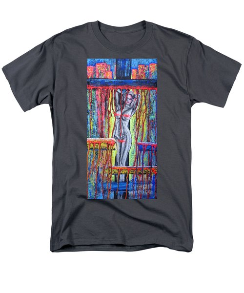 Men's T-Shirt  (Regular Fit) featuring the painting No Name /crusifiction Maybe/ by Viktor Lazarev