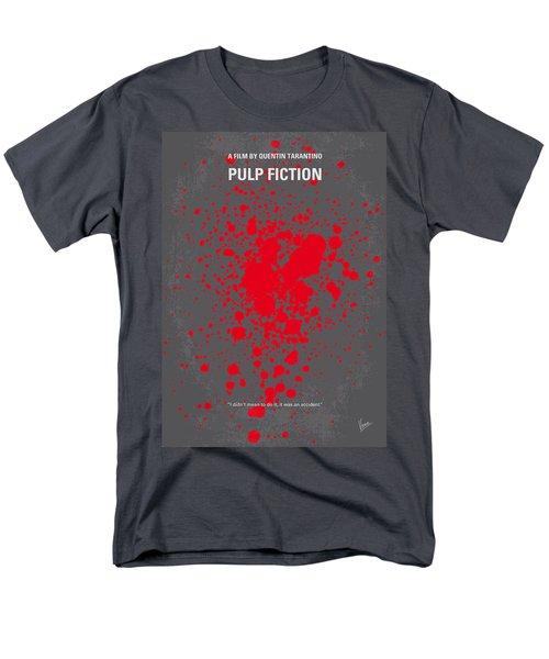 No067 My Pulp Fiction Minimal Movie Poster Men's T-Shirt  (Regular Fit)