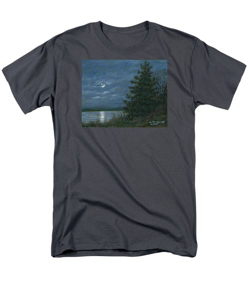 Men's T-Shirt  (Regular Fit) featuring the painting Nocturne In Blue by Kathleen McDermott