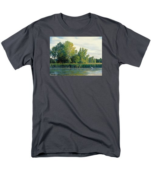 North Of The Grade-great Egret Men's T-Shirt  (Regular Fit) by Bruce Morrison