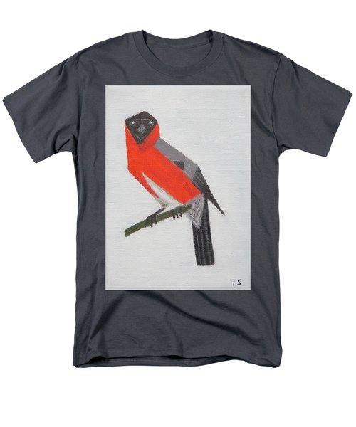 Northern Bullfinch Men's T-Shirt  (Regular Fit) by Tamara Savchenko