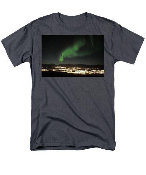 Northern Light In Troms, North Of Norway Men's T-Shirt  (Regular Fit) by Tamara Sushko