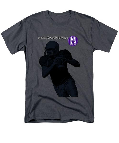 Northwestern Football Men's T-Shirt  (Regular Fit) by David Dehner