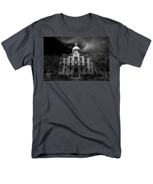 Men's T-Shirt  (Regular Fit) featuring the photograph Notre Dame University Black White 3a by David Haskett