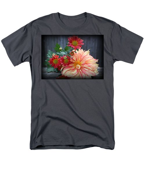 November  Flowers - Still Life Men's T-Shirt  (Regular Fit) by Dora Sofia Caputo Photographic Art and Design
