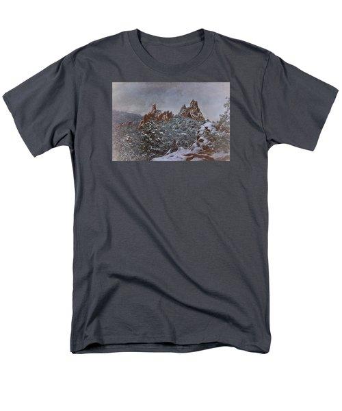 Men's T-Shirt  (Regular Fit) featuring the photograph November Snow - Garden Of The Gods by Ellen Heaverlo