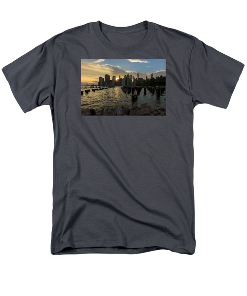 Nyc Sunset Men's T-Shirt  (Regular Fit) by Anthony Fields