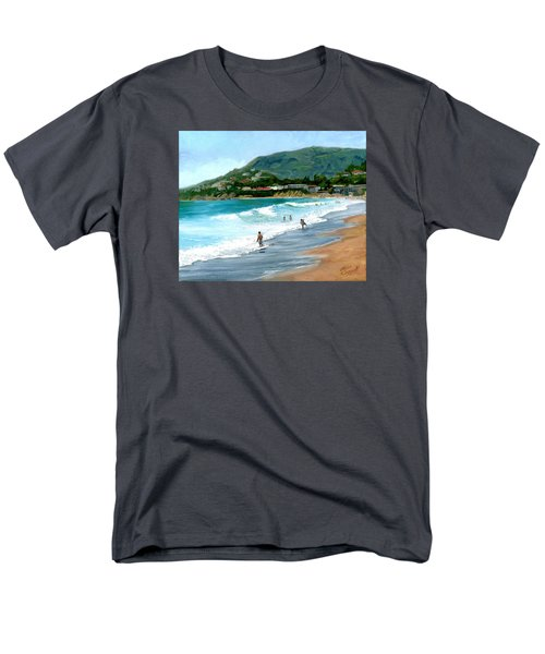 Oak Street Beach, Laguna Beach Men's T-Shirt  (Regular Fit) by Alice Leggett