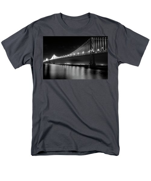 Men's T-Shirt  (Regular Fit) featuring the photograph Oakland Bay Bridge At Night by Darcy Michaelchuk