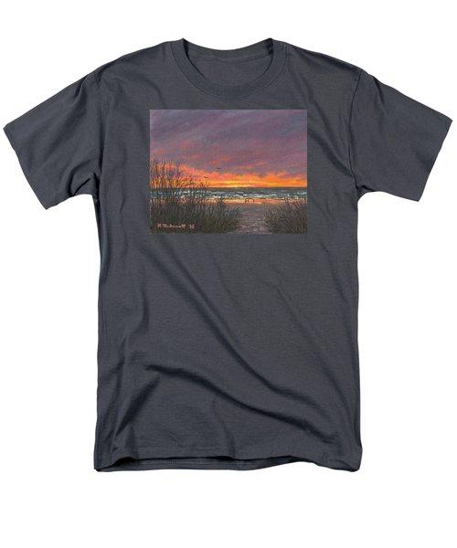 Men's T-Shirt  (Regular Fit) featuring the painting Ocean Daybreak # 2 by Kathleen McDermott