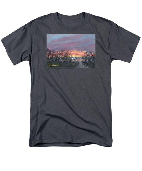 Men's T-Shirt  (Regular Fit) featuring the painting Ocean Daybreak by Kathleen McDermott