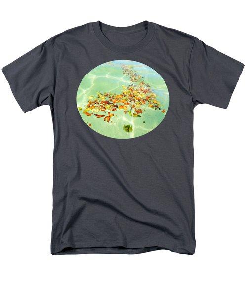 Men's T-Shirt  (Regular Fit) featuring the photograph Ocean Flowers Oval by Linda Hollis
