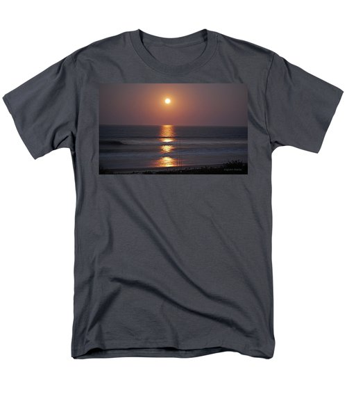 Ocean Moon In Pastels Men's T-Shirt  (Regular Fit) by DigiArt Diaries by Vicky B Fuller