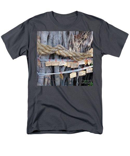Old Banyan Wishing Tree Men's T-Shirt  (Regular Fit) by Yali Shi